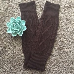 NWOT chocolate cable knit boot socks/ leg warmers